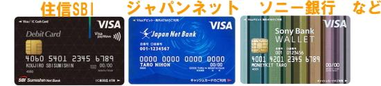 デビットカードを発行している銀行