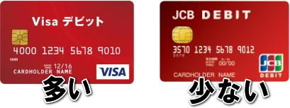 VISAとJCBのデビットカード