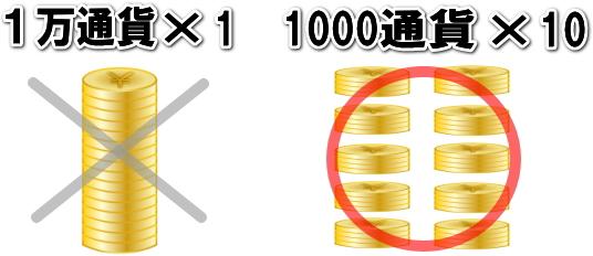 1000通貨×10