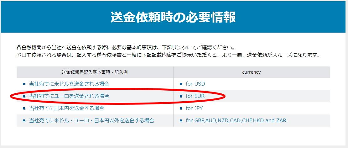 住信SBI銀行の海外送金ページ