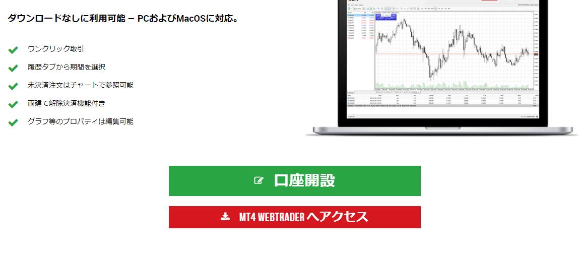 XMウェブトレーダー