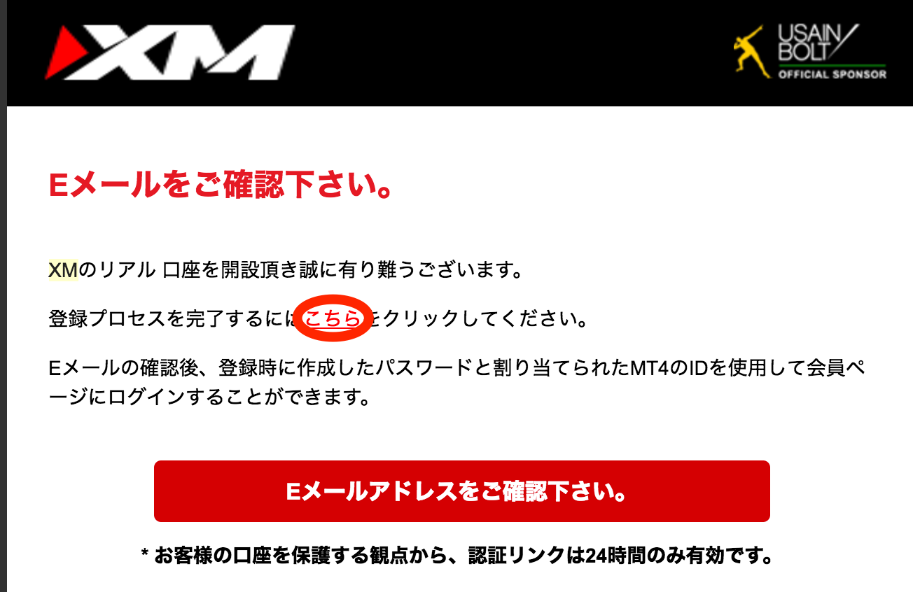 XM口座開設の解説画像