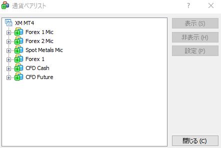 XM表示MT4