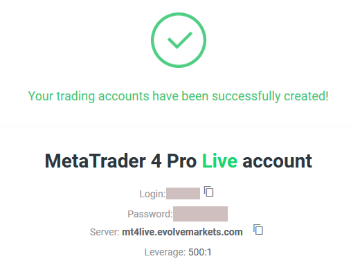 EvolveMarkets登録方法