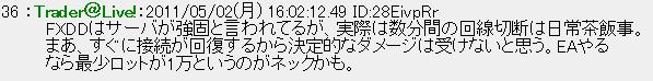 FXDDのサーバーについての評判