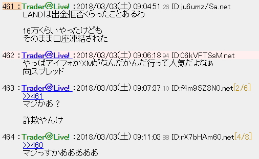 LAND-FX出金拒否された体験談
