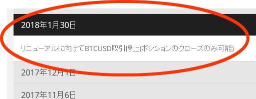 ビットコインFX取引停止