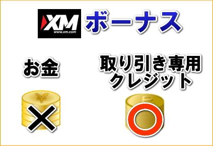 XMボーナスの解説画像